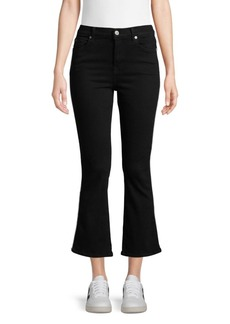 7 For All Mankind Mid-Rise Cropped Flare Jeans