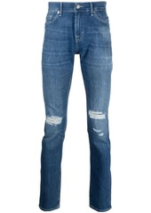 7 For All Mankind mid-rise distressed jeans