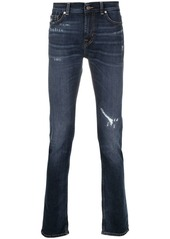 7 For All Mankind mid-rise ripped-detailed jeans