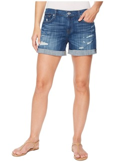 7 For All Mankind Mid Roll Shorts w/ Destroy in Broken Twills Desert Trails 3