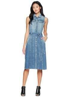 7 For All Mankind Midi Trucker Vest Dress