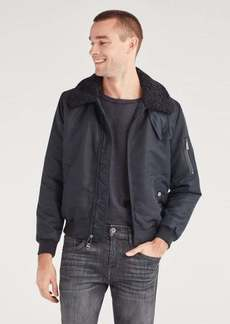 7 For All Mankind Military Bomber in Black