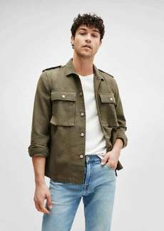 7 For All Mankind Military Shirt Jacket in Army