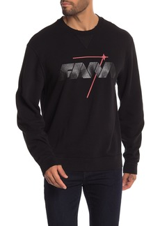 7 For All Mankind Mind Made Reverse Crew Neck Pullover