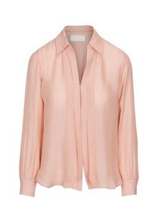 7 For All Mankind Mini Placket Collared Shirt in Pink Dawn