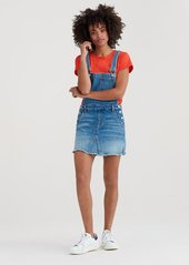 7 For All Mankind Mini Skirt Overall with Destroy in Desert Oasis