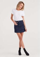7 For All Mankind Mini Utility Skirt in Utility Rinse