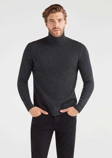 7 For All Mankind Mock Neck Sweater in Charcoal