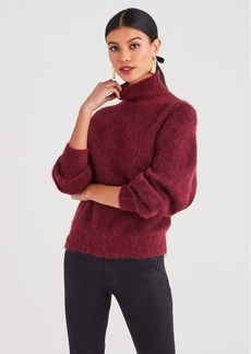 7 For All Mankind Mock Neck Sweater in Dark Merlot