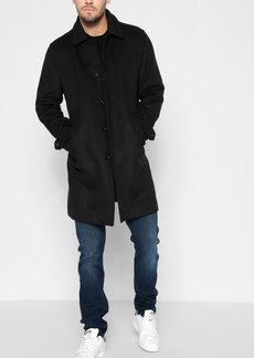 7 For All Mankind Modern Wool Overcoat in Black