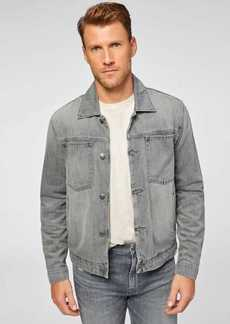 7 For All Mankind Mojo Patch Pocket Trucker Jacket in Dharma Grey