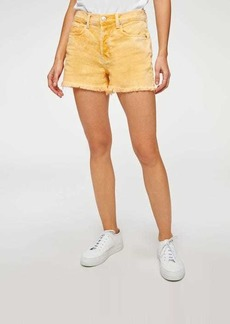 7 For All Mankind Monroe Cut-Off Short in Mineral Marigold