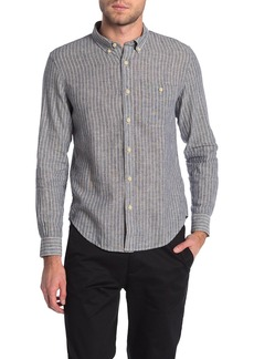 7 For All Mankind New Icon Linen Blend Button-Down Shirt