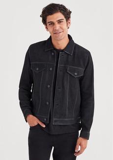 7 For All Mankind Nubuck Suede Trucker Jacket in Black