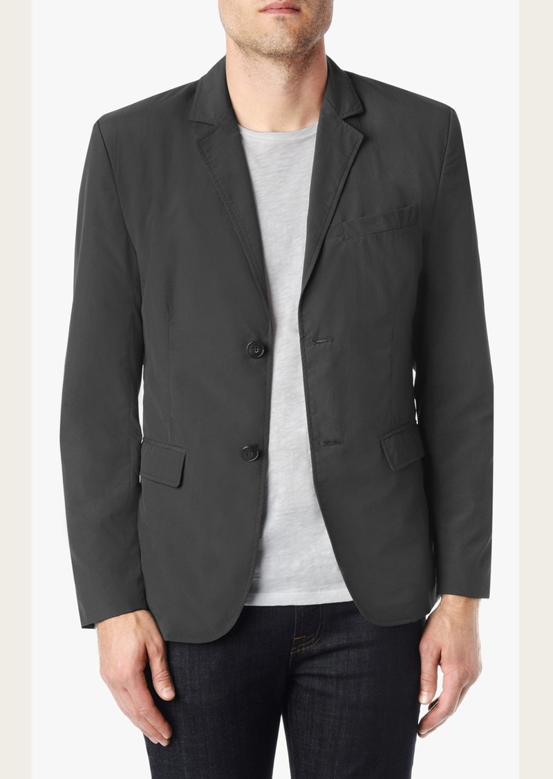 7 For All Mankind Nylon Blazer in Dark Grey