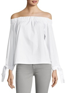 7 For All Mankind Off-The-Shoulder Cotton Top