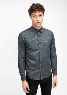 7 For All Mankind One Pocket Selvedge Shirt in Grey