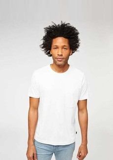 7 For All Mankind One Pocket Tee in White