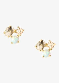 7 For All Mankind Opal Cluster Studs in Gold