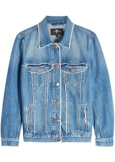 7 For All Mankind Oversize Modern Trucker Denim Jacket
