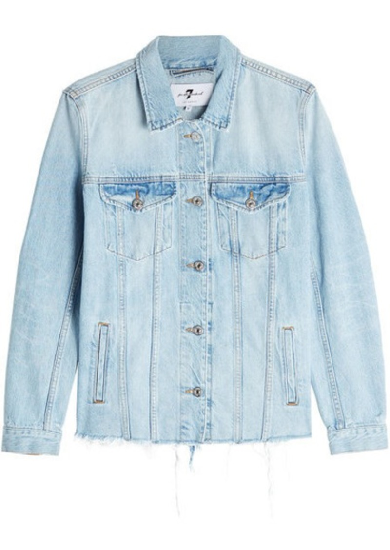 7 For All Mankind Oversized Denim Jacket