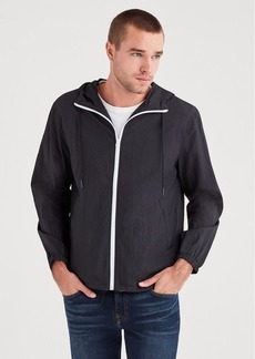 7 For All Mankind Packable Parachute Windbreaker in Black