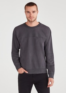 7 For All Mankind Paneled Terry Sweatshirt in Old Black
