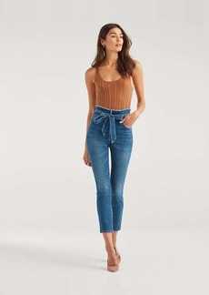 7 For All Mankind Paper Bag Jean in Bayberry