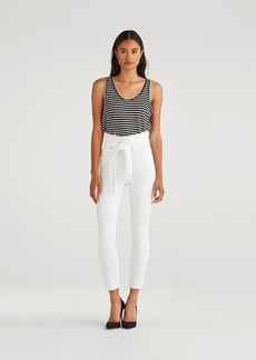 7 For All Mankind Paperbag Jean in White Runway