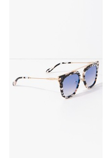 7 For All Mankind Parker Sunglasses in Luxe Marble