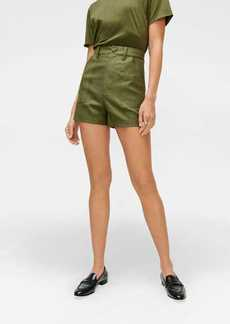 7 For All Mankind Patch Pocket Shorts in Military Green