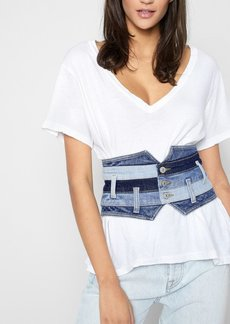 7 For All Mankind Patchwork Corset Belt