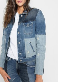 7 For All Mankind Patchwork Jacket in Indigo Patches