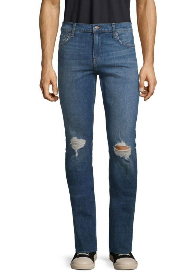 7 For All Mankind Paxtyn Distressed Stretch Skinny Jeans