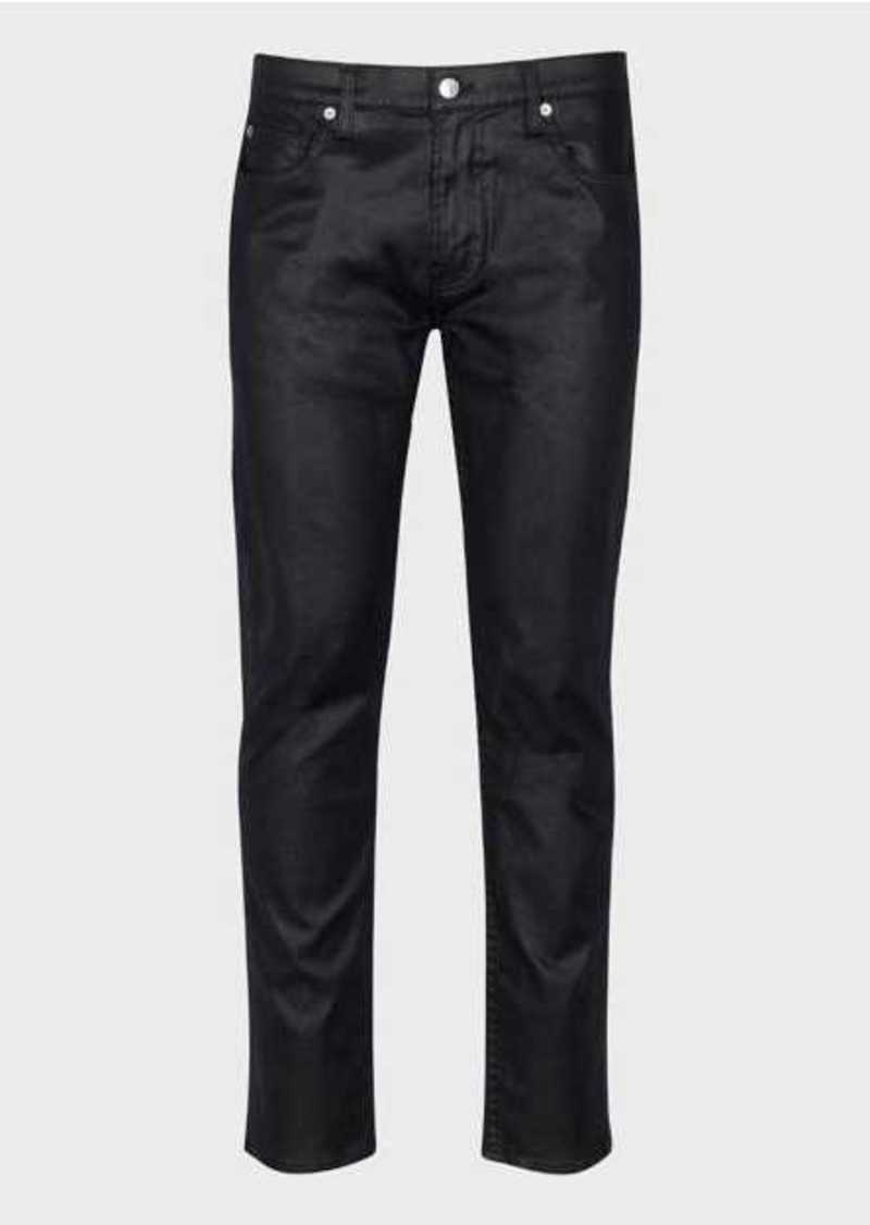 7 For All Mankind Paxtyn in Coated Black