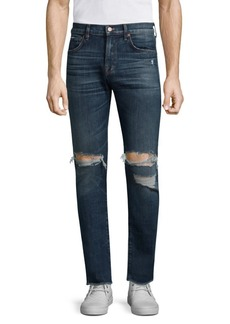 7 For All Mankind Paxtyn Skinny-Fit Clean Pocket Distressed Jeans