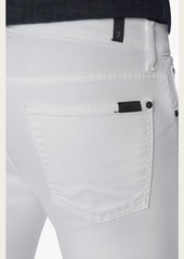 7 For All Mankind Paxtyn Skinny in White Denim