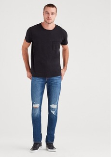 7 For All Mankind Paxtyn with Clean Pocket in Callahan Destroyed