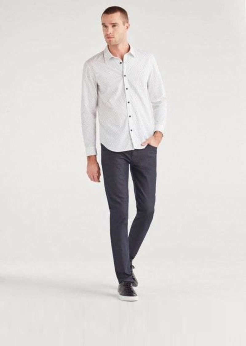 7 For All Mankind Paxtyn with Clean Pocket in Coated Blue Steel