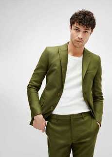 7 For All Mankind Peak Lapel Suit Jacket in Army