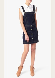 Pinafore Denim Dress in Dark Rinse