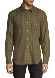 7 For All Mankind Plaid Cotton Button-Down Shirt
