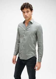 7 For All Mankind Plain Front Shirt in Houndstooth