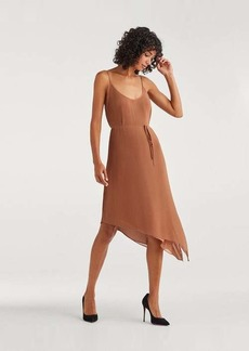 7 For All Mankind Pleated Chiffon Tie dress in Penny