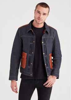 7 For All Mankind Pleated Front Trucker in Deep Wax