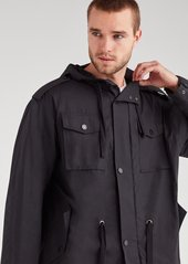 7 For All Mankind Poplin Mod Parka in Black