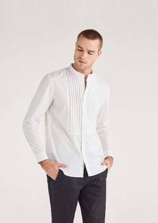 7 For All Mankind Poplin Ripstop Tux Shirt in White