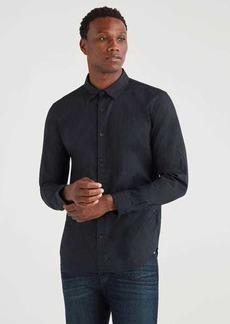 7 For All Mankind Poplin Roadster Long Sleeve Shirt in Black