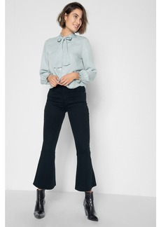 Priscilla Cropped Flare with Released Hem in Night Black