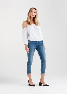 7 For All Mankind Puff Sleeve Off The Shoulder Top in White